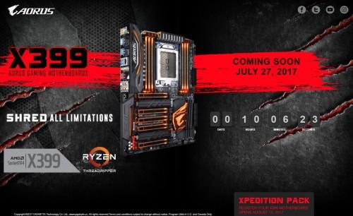 Bild: Promo zum Gigabyte Aorus X399 Gaming für Threadripper gestartet - Noch 10 Stunden Countdown