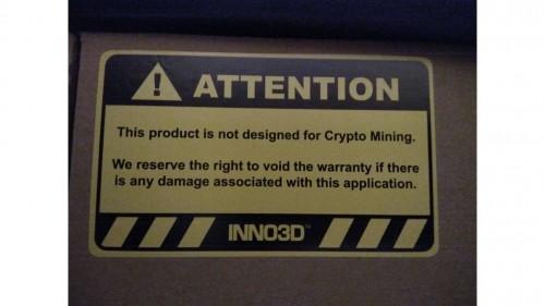 Krypto-Mining soll bei Inno3D-Grafikkarte zum Garantieverlust führen