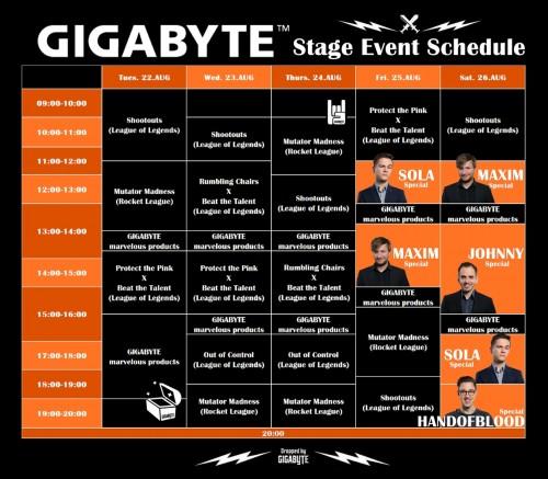 Bild: Gigabyte auf der Gamescom 2017