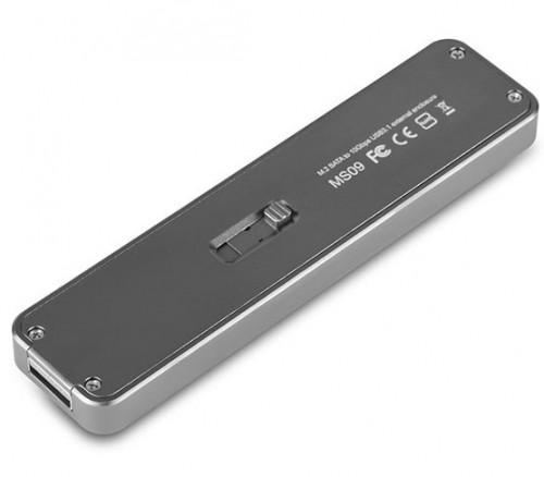 Bild: SilverStone MS09C: USB-3.1-Gen2-Gehäuse für M.2-SSDs