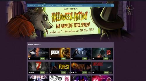 Halloween-Aktion 2017 bei Steam gestartet - Rabatte auf Grusel-Inhalte