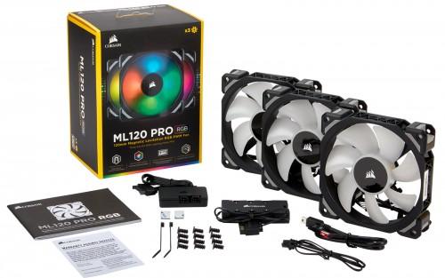 Bild: Corsair ML PRO RGB: Neue Lüfterserie mit Magnetschwebetechnik