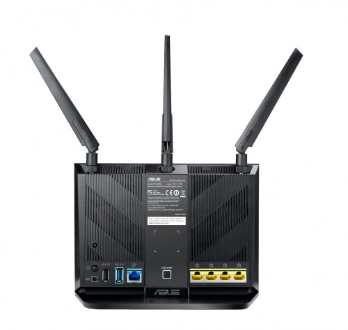 RT AC86U Router 2D 2 Back