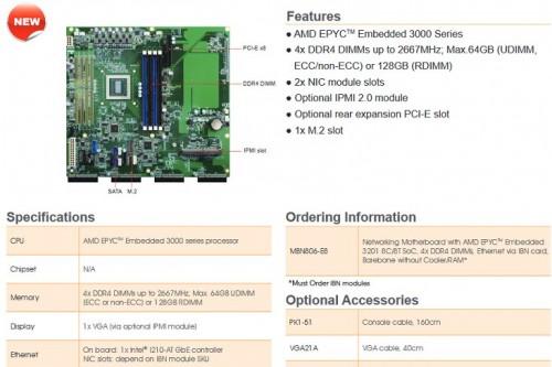 AMD Epyc: Erste Mainboards mit Embedded-CPUs gesichtet