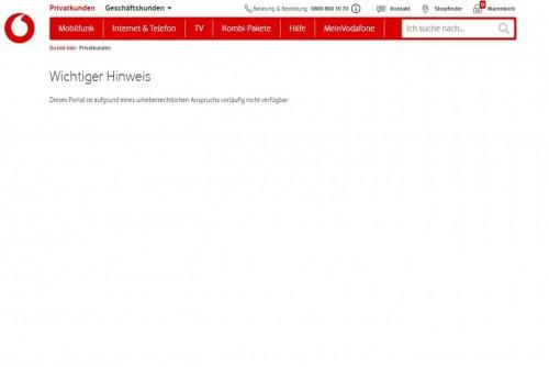 Sperre: Vodafone legt Berufung ein