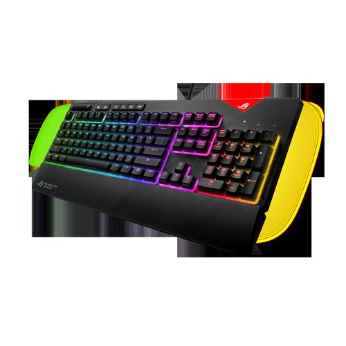 Asus ROG Strix Flare: Mechanische Tastatur mit Fokus auf RGB-Beleuchtung