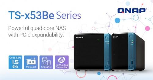 QNAP TS-x53Be: Zwei bis Vier-Bay-NAS mit HDMI-Anschluss und Intel-CPU