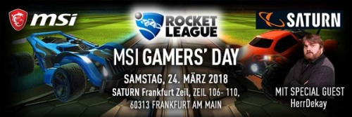 Bild: MSI Gamers Day am 24. März in Frankfurt am Main