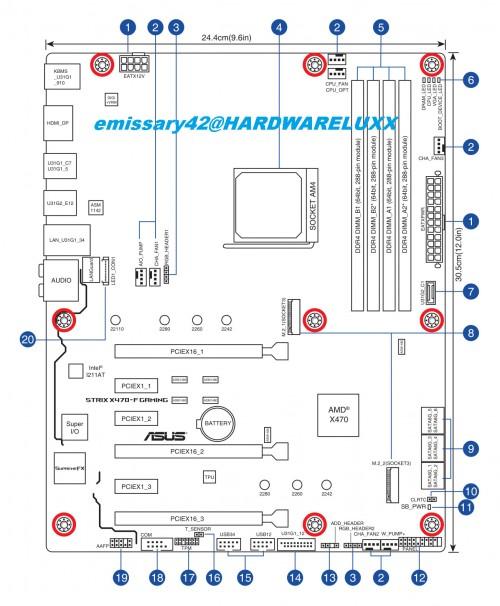Asus X470 Mainboards: Zeichnungen und Spezifikationen geleakt