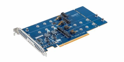 Bild: Gigabyte CMT2014: Adapterkarte zum Nachrüsten von weiteren M.2-SSDs-Slots