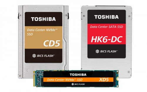 Toshiba SSDs mit bis zu 7,6 TB Speicherplatz