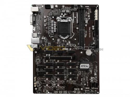 MSI H310-F Pro: Erstes Mining-Mainboard für Coffee-Lake-CPUs gesichtet
