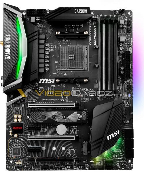 MSI X470 Gaming Pro Carbon AC: Erste Bilder des neuen High-End-Mainboards