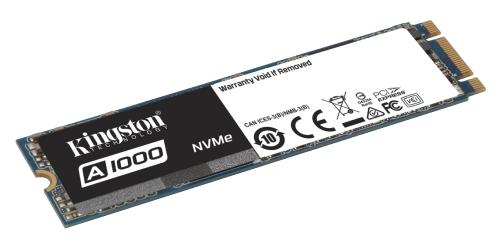 Kingston A1000: PCIe-SSD mit NVMe-Standard für Notebooks und Desktop-PCs
