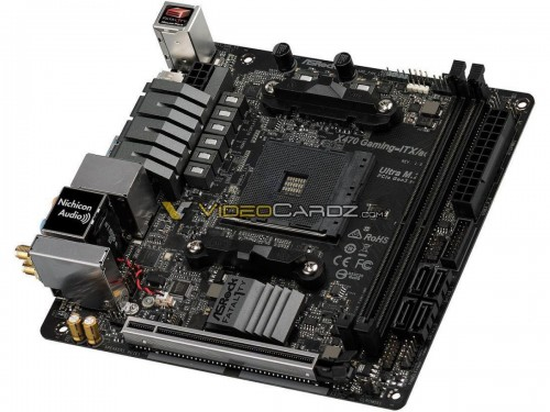 ASRock X470 Fatal1ty Gaming ITX/ac Mainboards abgelichtet