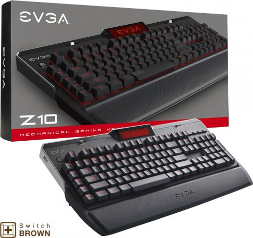 EVGA Z10: Tastatur für Enthusiasten mit RGB-beleuchtung und Bildschirm