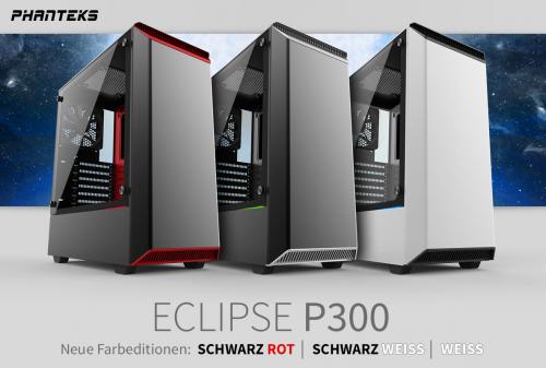 Phanteks Eclipse P300: Neue Farbeditionen vorgestellt