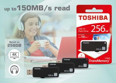 Toshiba U365: USB-3.0-Sticks mit 256 GB und Geschwindigkeiten von bis zu 150 MB/s