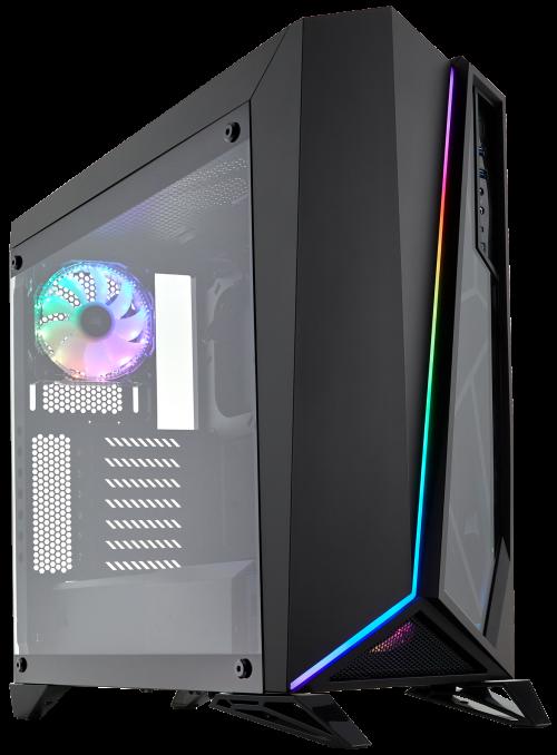 Bild: Corsair Spec-Omega-RGB: Gehäuse mit gehärtetem Glas und RGB-Beleuchtung