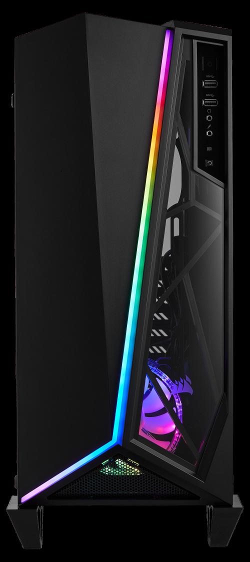 Corsair Spec-Omega-RGB: Gehäuse mit gehärtetem Glas und RGB-Beleuchtung