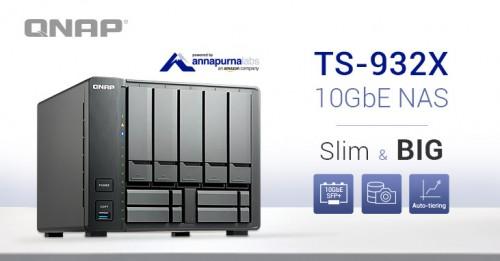 QNAP TS-932X: Günstiges 9-Bay-NAS mit 10-Gbit-Netzwerkkarte