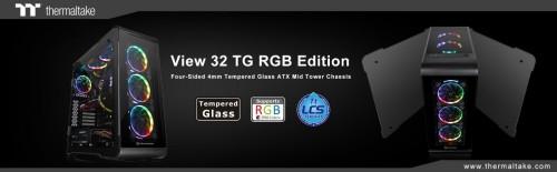 Thermaltake New View 32 TG RGB Edition: Mid-Tower-Gehäuse mit gehärteten Glasscheiben