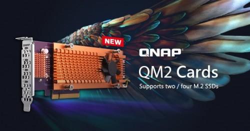 QNAP stellt QM2-PCIe-Karte mit M.2-Slots für bessere NAS-Performance vor