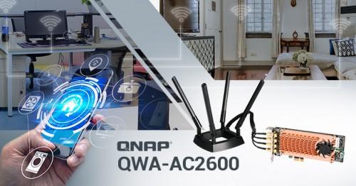 QNAP QWA-AC2600: WLAN-Adapter mit Dual-Band-Netzwerk und 4x4-MU-MIMO