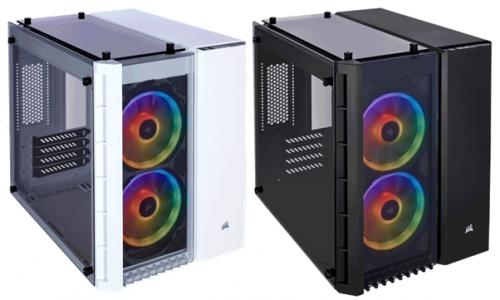 Bild: Corsair Crystal 280X RGB: mATX-Gehäuse im auffälligen Würfel-Design