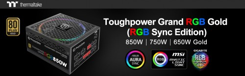 Thermaltake Introduces Toughpower Grand RGB Gold (RGB Sync Edition) Power Supplies