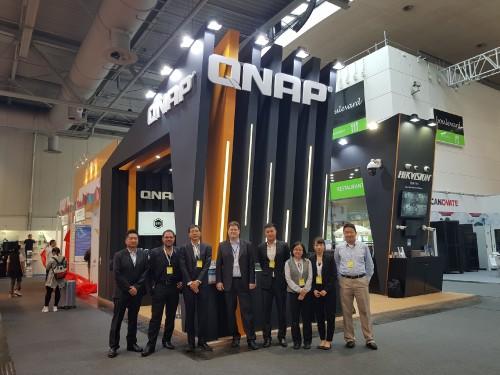 QNAP auf der CeBit 2018 mit verschiedenen NAS-Geräten