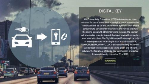 Digital Key: Standard für die Nutzung des Smartphones als Autoschlüssel vo