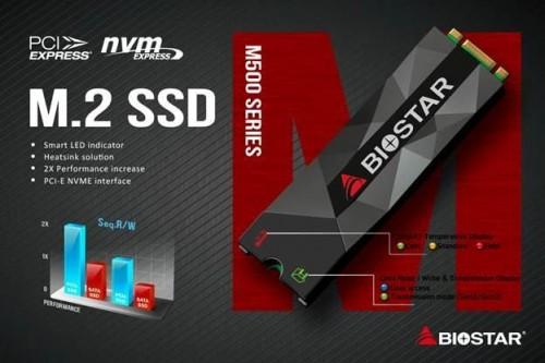 Biostar M500-Serie: NVMe-SSDs mit Heatspreader vorgestellt