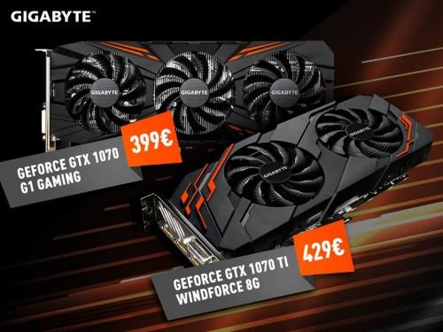 Bild: Caseking mit starken Rabatt auf die Gigabyte GTX 1070 und GTX 1070 Ti