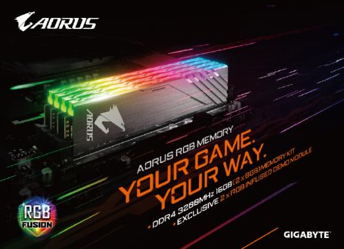 Gigabyte präsentiert DDR4-RAM der Aorus-Serie mit RGB-LEDs