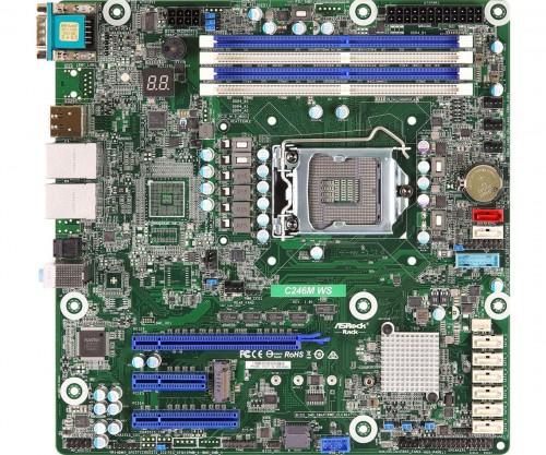 Bild: ASRock C246M WS: mATX-Mainboard für Intel-Xeon-CPUs