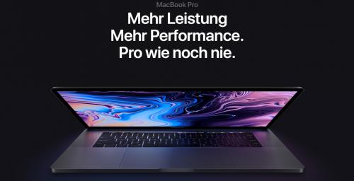 MacBook Pro: Core-i9-CPU muss stark gedrosselt werden
