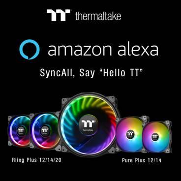 Thermaltake Pure Plus RGB Lüfter werden von Alexa unterstützt