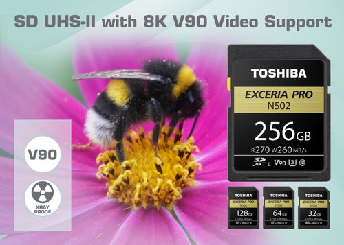 Toshiba N502 UHS-II Exceria Pro: SD-Karte mit 270 MB/s