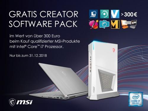 Bild: MSI spendiert umfangreiches Software-Paket beim Kauf ausgewählter Laptops