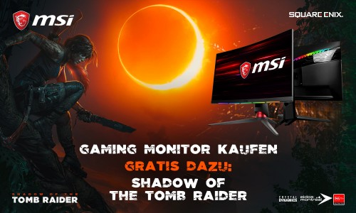 MSI: Shadow of the Tomb Raider gratis beim Kauf eines Curved-Gaming-Monitors