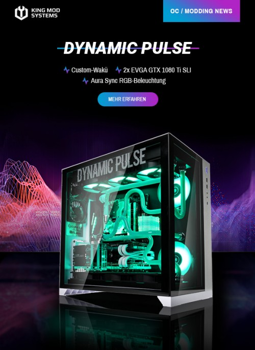 King Mod Systems: Dynamic Pulse mit Ryzen-CPU und Custom-WaKü