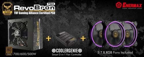 Enermax RevoBron TGA: Netzteile-Serie inklusive Steuerung und drei RGB-Lüfter