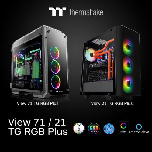 Thermaltake View 71 und 21 Tempered Glass Edition