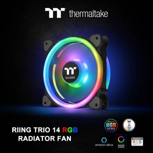 Bild: Thermaltake Riing Trio 14 RGB Lüfter der Radiator TT Premium Edition