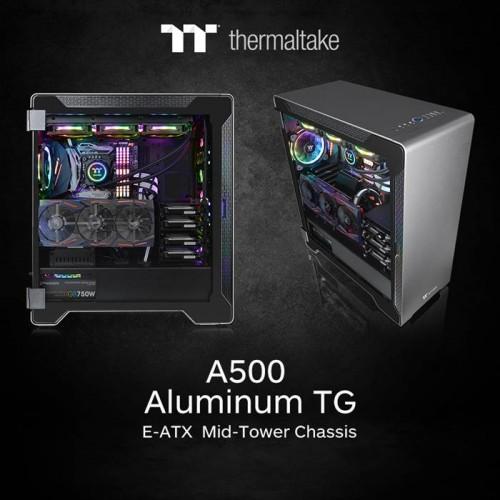 Thermaltake A500 Aluminium TG: E-ATX-Gehäuse mit gehärtetem Glas
