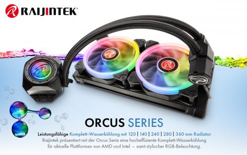 Raijnitek Orcus RGB Rainbow: AiO-Wasserkühlung ab sofort bei Caseking erhältlich