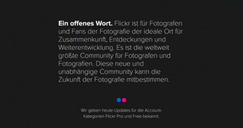 Flickr: Kostenloses Angebot wird auf 1000 Fotos beschränkt