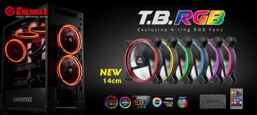 Enermax präsentiert die T.B.RGB-Lüfter mit 140 mm Durchmesser