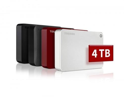 Toshiba Canvio: Externe Festplatten mit 4 TB für portable Datenspeicherung